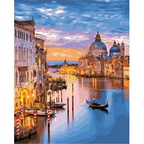 Венеция на закате Раскраска картина по номерам на холсте GX33191