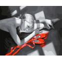 Цветовой акцент. Балерина Раскраска картина по номерам на холсте GX33171