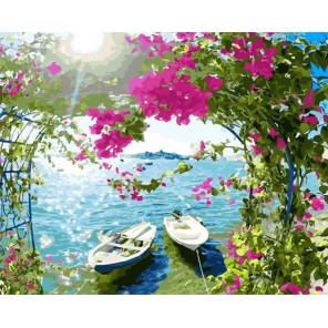 Лучезарный берег Раскраска картина по номерам на холсте GX33157