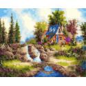 Сказка. Домик в лесу Раскраска картина по номерам на холсте GX31759