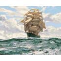Корабль мчится от шторма Раскраска картина по номерам на холсте GX29131