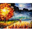 Осенний блюз Раскраска картина по номерам на холсте MG2165