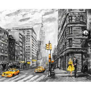 Столичная улица Раскраска картина по номерам на холсте MG2168