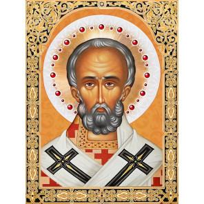 Икона Николай Чудотворец Набор для выкладывания алмазной мозаики АЖ-1839