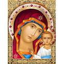 Икона Казанская Богородица Набор для выкладывания алмазной мозаики АЖ-1841