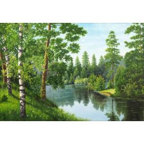 Река в лесу Набор для выкладывания алмазной мозаики АЖ-1243