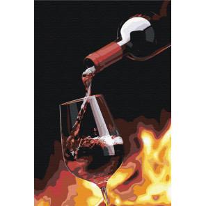 Бокал игристого вина Раскраска картина по номерам на холсте AAAA-RS038-100x150