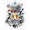 Яркая лиса Раскраска картина по номерам на холсте AAAA-RS047-60x80