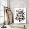 Пример в интерьере Яркая лиса Раскраска картина по номерам на холсте AAAA-RS047-60x80