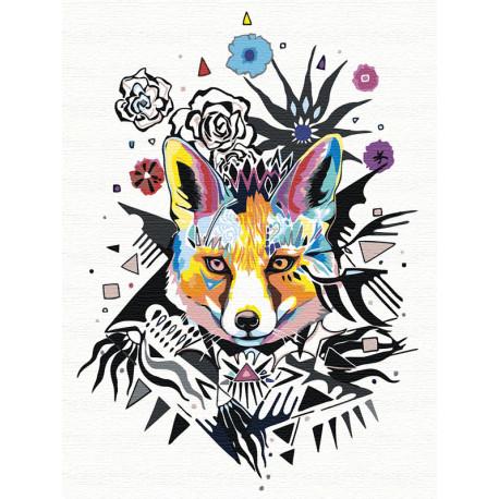 Яркая лиса Раскраска картина по номерам на холсте AAAA-RS047-75x100