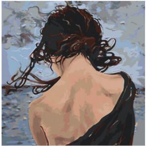 Обнаженная спина девушки Раскраска картина по номерам на холсте