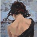 Обнаженная спина девушки 100х100 Раскраска картина по номерам на холсте