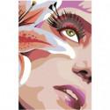 Девушка и лилия 80х120 Раскраска картина по номерам на холсте