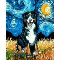 Вечерний пёс Раскраска картина по номерам на холсте PK59100