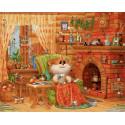 Домашняя идиллия Раскраска картина по номерам на холсте PK76003