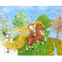 На коне Раскраска картина по номерам на холсте PK76001