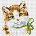 Кошка Алиса Алмазная вышивка мозаика без подрамника Белоснежка 451-ST-PS