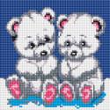 Медвежата Алмазная вышивка мозаика без подрамника Белоснежка 454-ST-PS