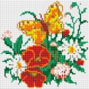 Бабочка на лугу Алмазная вышивка мозаика без подрамника Белоснежка 455-ST-PS