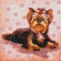 Маленький Йорк Алмазная вышивка мозаика без подрамника Белоснежка 457-ST-PS