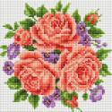 Розы и фиалки Алмазная вышивка мозаика без подрамника Белоснежка 459-ST-PS