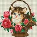Котёнок в корзинке Алмазная вышивка мозаика без подрамника Белоснежка 462-ST-PS