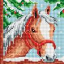 Белогривая лошадка Алмазная вышивка мозаика без подрамника Белоснежка 464-ST-PS
