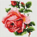 Изящная роза Алмазная вышивка мозаика без подрамника Белоснежка 465-ST-PS