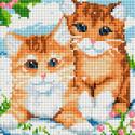 Рыжие котята Алмазная вышивка мозаика без подрамника Белоснежка 469-ST-PS