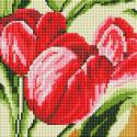 Тюльпаны Алмазная вышивка мозаика без подрамника Белоснежка 471-ST-PS