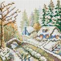 Зима Алмазная вышивка мозаика без подрамника Белоснежка 475-ST-PS