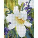 Лилия Алмазная вышивка мозаика на подрамнике Белоснежка 537-ST-S