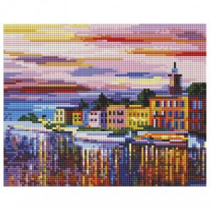 Озеро Комо - Белладжио Алмазная вышивка мозаика на подрамнике Белоснежка 541-ST-S