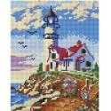 Старый маяк Алмазная вышивка мозаика на подрамнике Белоснежка 546-ST-S