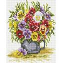 Цветочное счастье Алмазная вышивка мозаика на подрамнике Белоснежка 551-ST-S