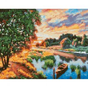 Тишина летнего вечера Раскраска картина по номерам на холсте 272-AB