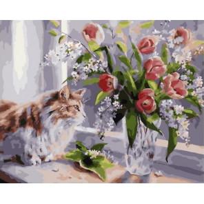 А за окном весна Раскраска картина по номерам на холсте PK79009