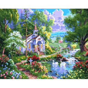Волшебный сад. Сказка Раскраска картина по номерам на холсте GX37159