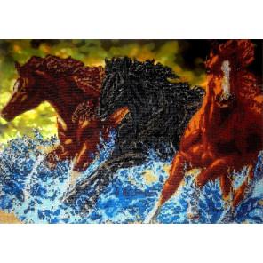 Бегущие лошади Набор для вышивки бисером FeDi КВ636