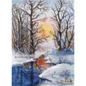Зимний ручей Набор для вышивания Овен 1334
