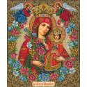 Богородица Неувядаемый цвет Набор для частичной вышивки бисером Русская искусница 507