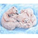 Все вместе. Семья полярных медведей Раскраска картина по номерам на холсте PK79060