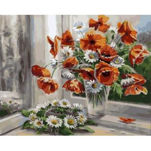 Цветочная рапсодия Раскраска картина по номерам на холсте PK79058