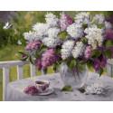 Сиреневая весна Раскраска картина по номерам на холсте PK79049