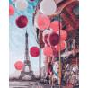На карусели в Париже Раскраска картина по номерам на холсте GX24914