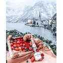 Романтика французских Альп Раскраска картина по номерам на холсте GX26282