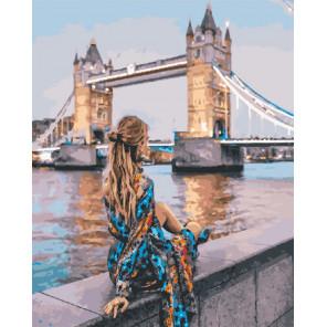 Девушка у Темзы Раскраска картина по номерам на холсте GX30427