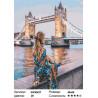 Сложность и количество цветов Девушка у Темзы Раскраска картина по номерам на холсте GX30427
