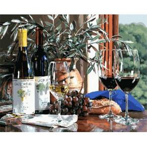 Виноградное вино Раскраска картина по номерам на холсте МСА466
