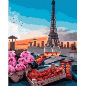Сложность и количество цветов Романтика на крыше Раскраска картина по номерам на холсте МСА276
